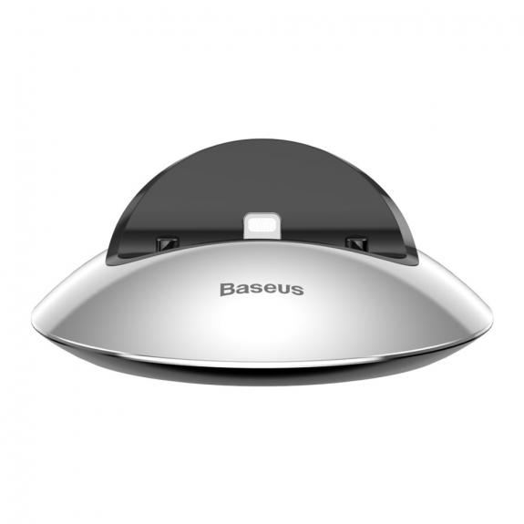 AppleKing bASEUS Hemisphere dokovací stanice pro iPhone - stříbrná - možnost vrátit zboží ZDARMA do 30ti dní
