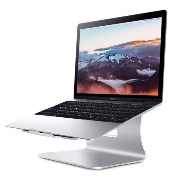 AppleKing bESTAND hliníkový stojánek pro MacBook - stříbrná - možnost vrátit zboží ZDARMA do 30ti dní