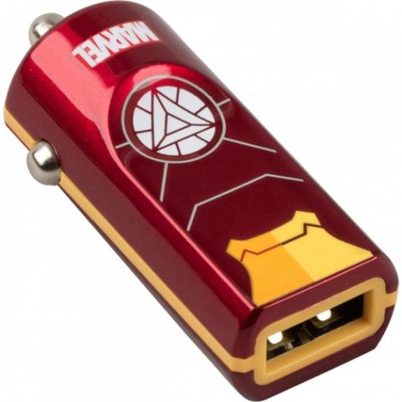 Tribe Marvel Iron Man nabíječka do auta - červená CCR11604 - možnost vrátit zboží ZDARMA do 30ti dní