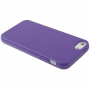 Gumový hladký kryt pro iPhone 5 / 5S / SE - fialový