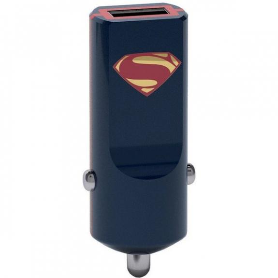 Tribe DC Movie Superman nabíječka do auta - černá CCR13301 - možnost vrátit zboží ZDARMA do 30ti dní