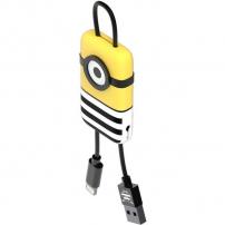 Tribe Minions Jail Time Minion Lightning kabel Keyline přívěšek na klíče - 22cm - žlutá