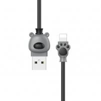 BASEUS medvědí lightning kabel - 1m - černá