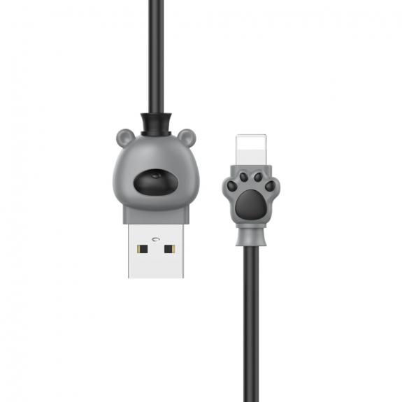BASEUS medvědí lightning kabel - 1m - černá - možnost vrátit zboží ZDARMA do 30ti dní