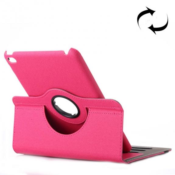 AppleKing pouzdro / kryt otočným držákem a prostorem na doklady pro iPad mini 4 - růžové - možnost vrátit zboží ZDARMA do 30ti dní
