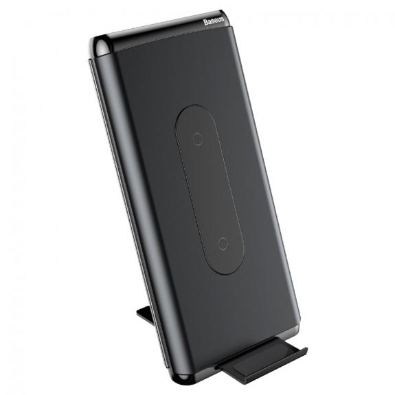 BASEUS stojánek / powerbanka 10000mAh s bezdrátovým nabíjením - černá - možnost vrátit zboží ZDARMA do 30ti dní