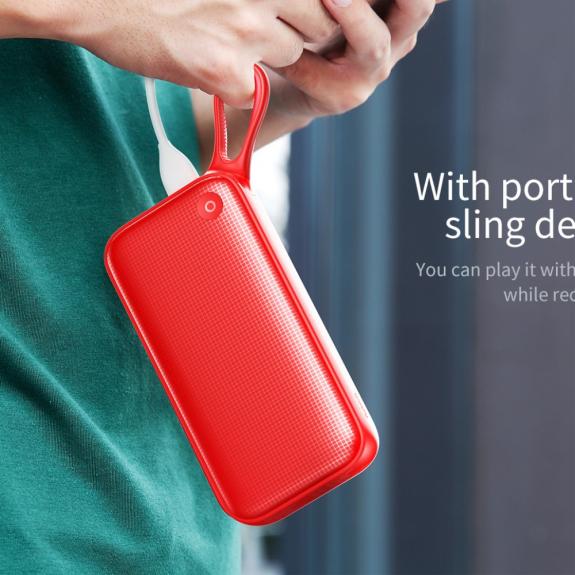 AppleKing bASEUS výkonná powerbanka 20000 mAh - červená - možnost vrátit zboží ZDARMA do 30ti dní