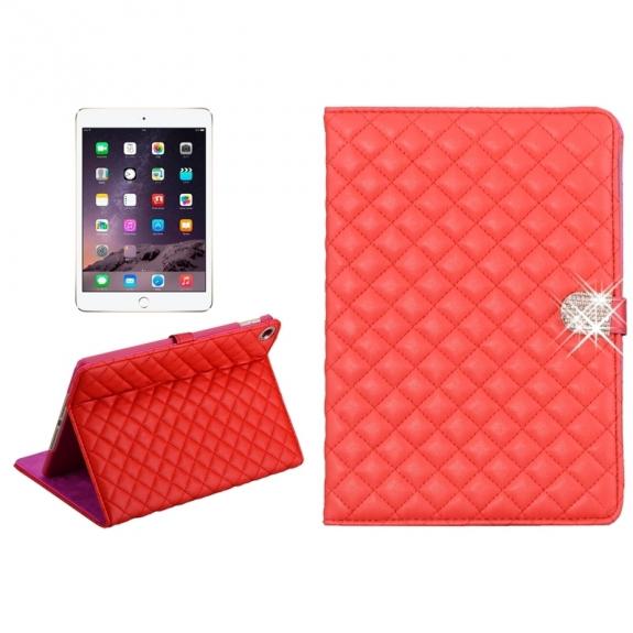 AppleKing pouzdro / kryt s integrovaným stojánkem pro iPad Air 2 - vzor kosočtverce - červené - možnost vrátit zboží ZDARMA do 30ti dní