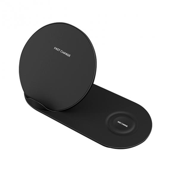 AppleKing stojánek pro rychlé bezdrátové nabíjení pro iPhone / Watch - černý - možnost vrátit zboží ZDARMA do 30ti dní