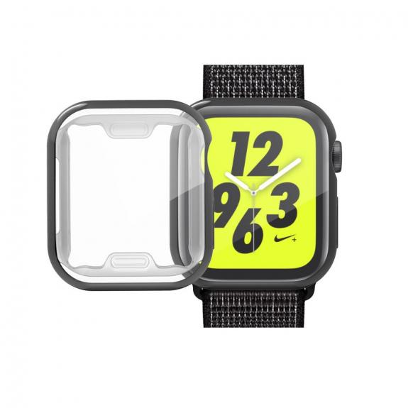 AppleKing pouzdro s ochranou displeje pro Watch - 44mm - černá - možnost vrátit zboží ZDARMA do 30ti dní