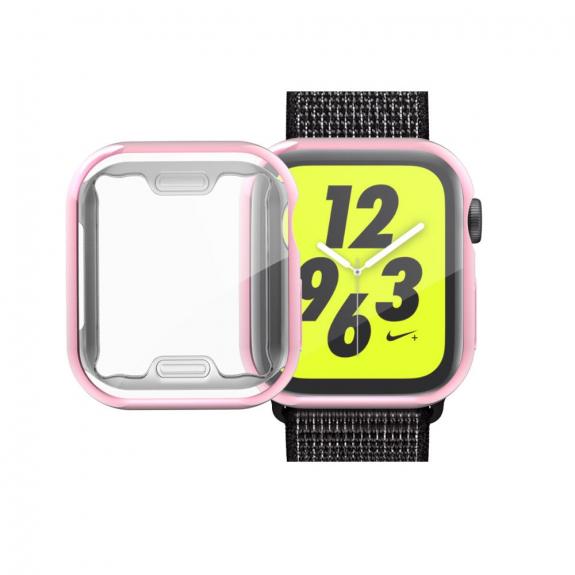 AppleKing pouzdro s ochranou displeje pro Watch - 44mm - růžovozlatá - možnost vrátit zboží ZDARMA do 30ti dní