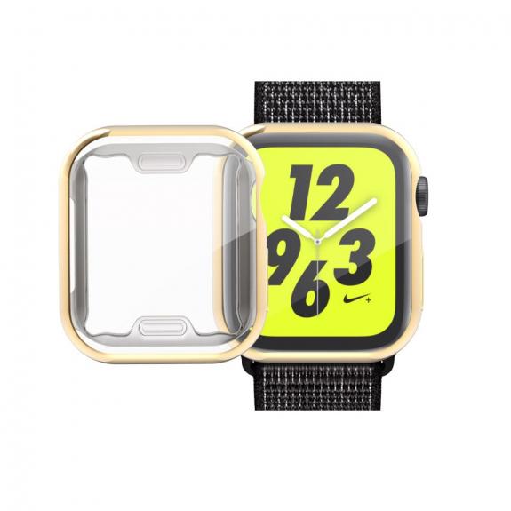 AppleKing pouzdro s ochranou displeje pro Watch - 44mm - zlatá - možnost vrátit zboží ZDARMA do 30ti dní