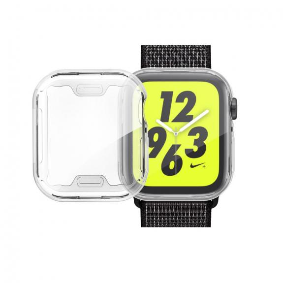 AppleKing pouzdro s ochranou displeje pro Watch - 44mm - stříbrná - možnost vrátit zboží ZDARMA do 30ti dní
