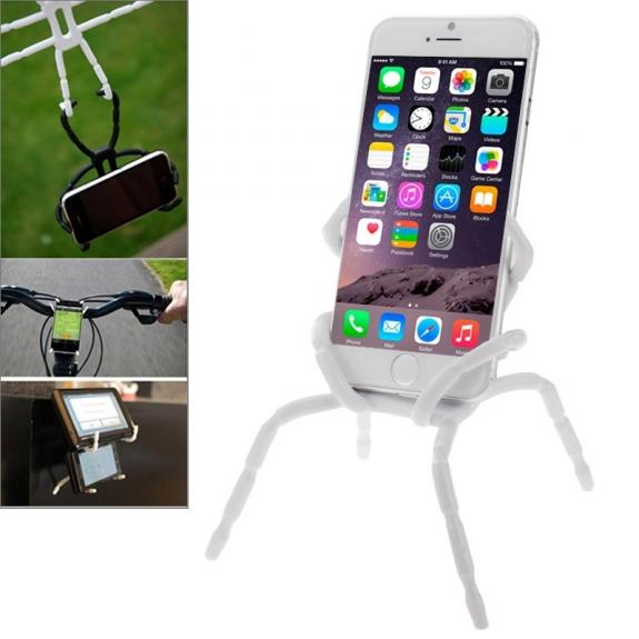 """AppleKing univerzální stojánek / držák """"pavouk"""" pro iPhone / iPod – bílý - možnost vrátit zboží ZDARMA do 30ti dní"""