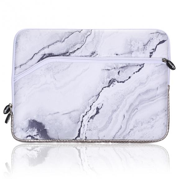 "AppleKing neoprenová brašna na Macbook Air 13"" / Pro 13"" - bílý mramor - možnost vrátit zboží ZDARMA do 30ti dní"