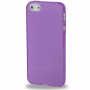 Ochranný poloprůhledný kryt pro iPhone 5 / 5S / SE - fialový