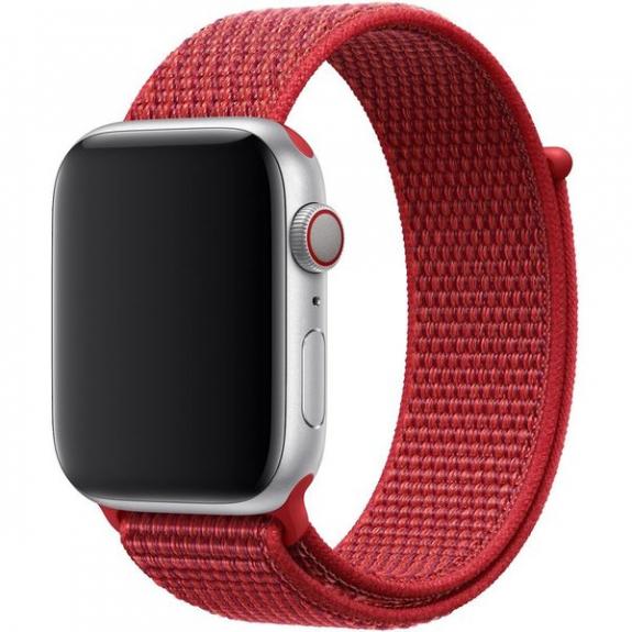 Originální provlékací sportovní řemínek pro Apple Watch - 44 / 42mm - (PRODUCT)RED mu972zm/a - možnost vrátit zboží ZDARMA do 30ti dní