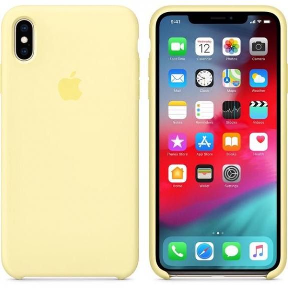 Originální Apple silikonový kryt pro iPhone XS Max - jemně žlutý MUJR2ZM/A - možnost vrátit zboží ZDARMA do 30ti dní