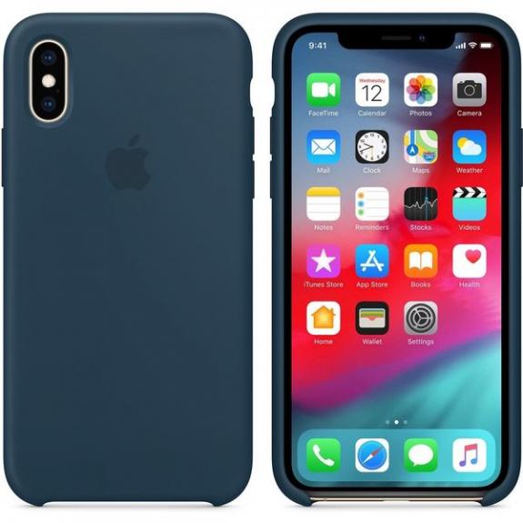 Originální Apple silikonový kryt pro iPhone XS - podmořsky zelená - možnost vrátit zboží ZDARMA do 30ti dní