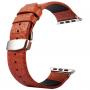 Kakapi kožený řemínek + kovové úchyty a kvalitní spona na zapínání pro Apple Watch 42mm - hnědý