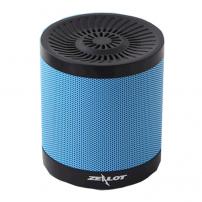 Bezdrátový Bluetooth stereo reproduktor s 2000mAh baterií a slotem pro 32GB paměťovou kartu - modrý