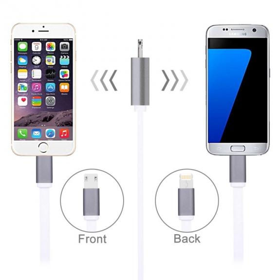 HAWEEL synchronizační a nabíjecí kabel s duálním 2v1 Lightning / micro USB konektorem pro Apple a další zařízení - možnost vrátit zboží ZDARMA do 30ti dní