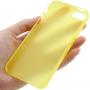 Ultra tenký (0.3mm) poloprůhledný matný kryt pro iPhone 5 / 5S / SE - žlutý