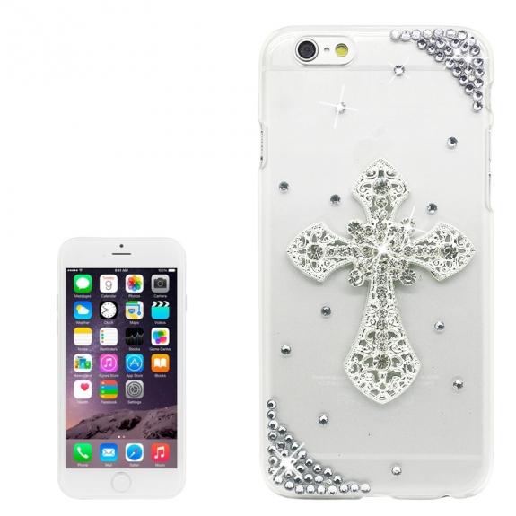 AppleKing luxusní kryt / obal s kamínky ve stylu diamantu pro Apple iPhone 6S / 6 - kříž - možnost vrátit zboží ZDARMA do 30ti dní