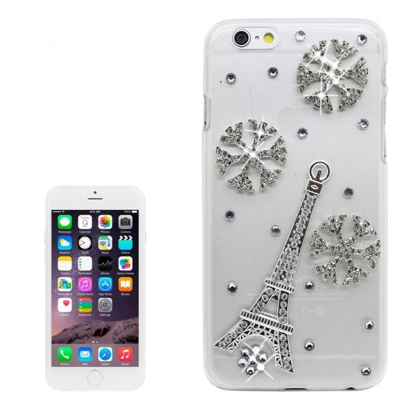 AppleKing luxusní kryt / obal s kamínky ve stylu diamantu pro Apple iPhone 6S / 6 - Eiffelova věž - možnost vrátit zboží ZDARMA do 30ti dní
