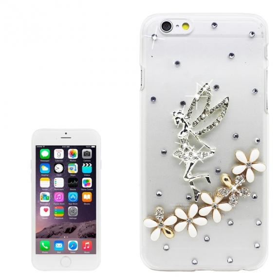 AppleKing luxusní kryt / obal s kamínky ve stylu diamantu pro Apple iPhone 6S / 6 - anděl - možnost vrátit zboží ZDARMA do 30ti dní