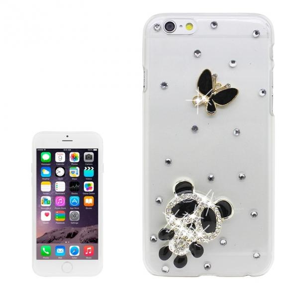 AppleKing luxusní kryt / obal s kamínky ve stylu diamantu pro Apple iPhone 6S / 6 - panda - možnost vrátit zboží ZDARMA do 30ti dní