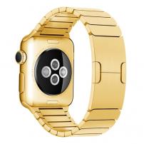 Luxusní ocelový nerezový řemínek pro Apple Watch 44mm / Watch 42mm - zlatý