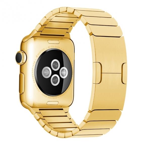 AppleKing luxusní ocelový nerezový řemínek pro Apple Watch 42mm - zlatý - možnost vrátit zboží ZDARMA do 30ti dní
