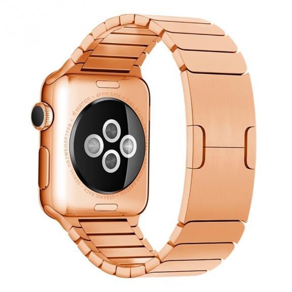 AppleKing luxusní ocelový nerezový řemínek pro Apple Watch 42mm - růžově zlatý - možnost vrátit zboží ZDARMA do 30ti dní