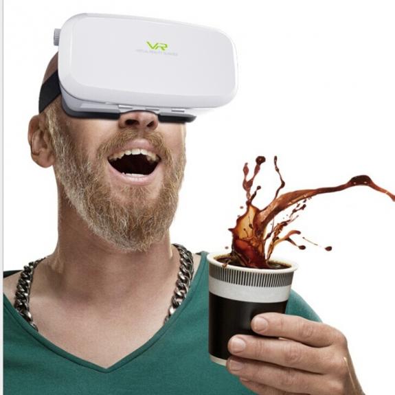 Virtuální brýle VR SHINECON 3D pro Apple iPhone - bílé - možnost vrátit zboží ZDARMA do 30ti dní