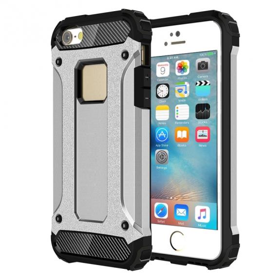 """AppleKing super odolný """"Armor"""" kryt pro Apple iPhone 5 / 5S / SE - stříbrný - možnost vrátit zboží ZDARMA do 30ti dní"""