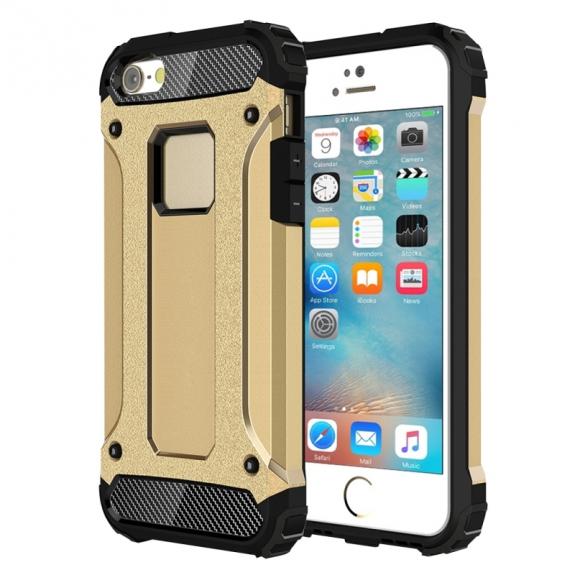 """AppleKing super odolný """"Armor"""" kryt pro Apple iPhone 5 / 5S / SE - zlatý - možnost vrátit zboží ZDARMA do 30ti dní"""