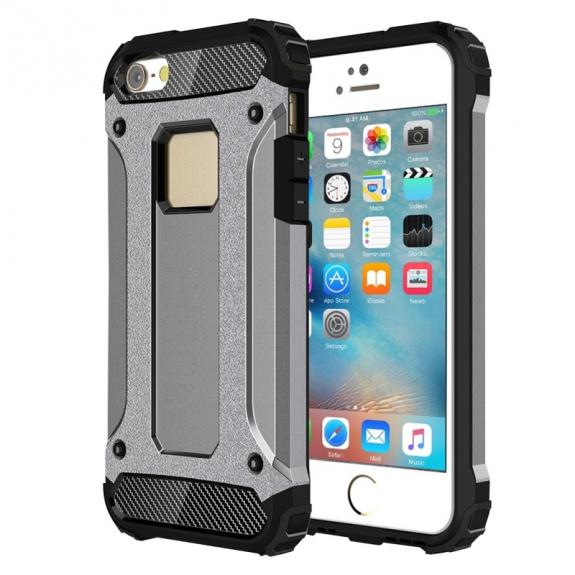 """AppleKing super odolný """"Armor"""" kryt pro Apple iPhone 5 / 5S / SE - šedý - možnost vrátit zboží ZDARMA do 30ti dní"""