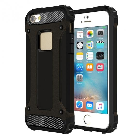 """AppleKing super odolný """"Armor"""" kryt pro Apple iPhone 5 / 5S / SE - černý - možnost vrátit zboží ZDARMA do 30ti dní"""