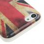Gumový kryt pro iPhone 5C - retro vlajka UK
