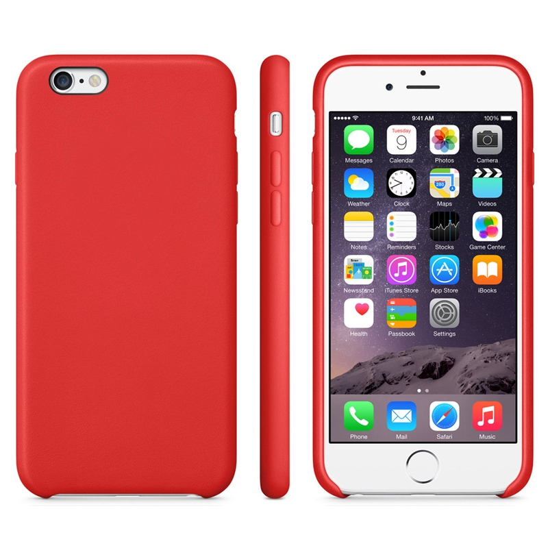 Protiskluzový matný obal pro Apple iPhone 6   6S - červený ... 572199c26a0