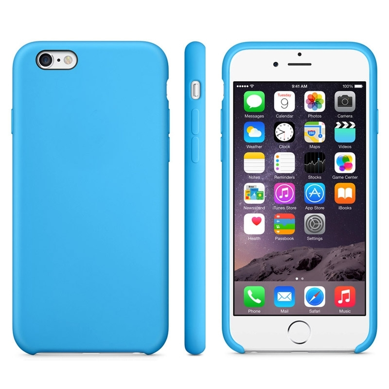 Protiskluzový matný obal pro Apple iPhone 6   6S - modrý - AppleKing.cz 06b1b98a58d