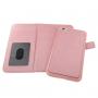 Vyklápěcí pouzdro s odnímatelným krytem a prostorem na doklady a mince pro Phone 6 / 6S  - růžové