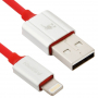 KiwiBird certifikovaný MFi lightning kabel pro Apple iPhone / iPad / iPod - 1m - červený