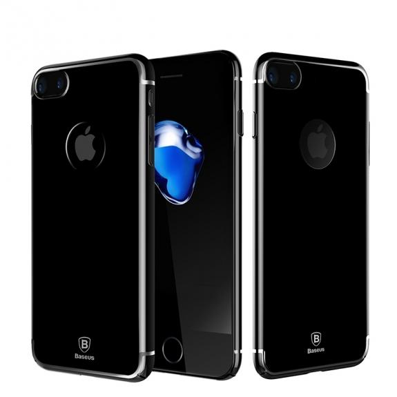 Baseus luxusní ochranný kryt pro Apple iPhone 8 Plus / 7 Plus - temně černý - možnost vrátit zboží ZDARMA do 30ti dní