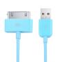 Synchronizační a nabíjecí 30pin kabel iPhone 4 / 4S / 3G / 3GS / iPad 2 / iPod Touch - 1m - modrý