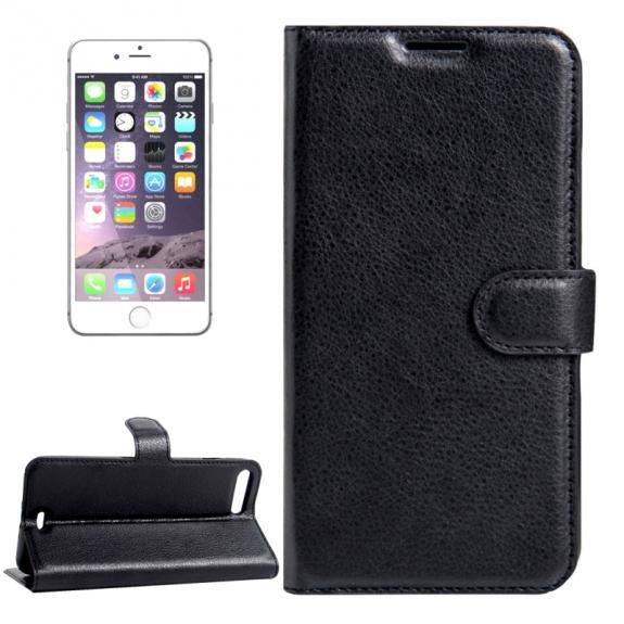 AppleKing kožené pouzdro s integrovaným stojánkem a prostorem na doklady pro Apple iPhone 7 Plus - černé - možnost vrátit zboží ZDARMA do 30ti dní