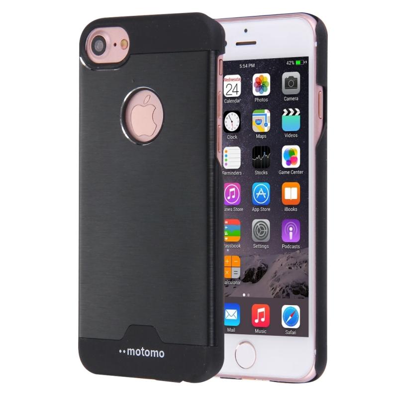 MOTOMO kovový ochranný zadní kryt pro Apple iPhone 8   7 - černý ... daa4e05bbde