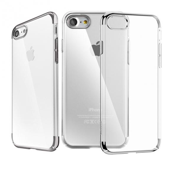 Baseus luxusní lesklý průhledný kryt pro Apple iPhone 7 - černý - možnost vrátit zboží ZDARMA do 30ti dní