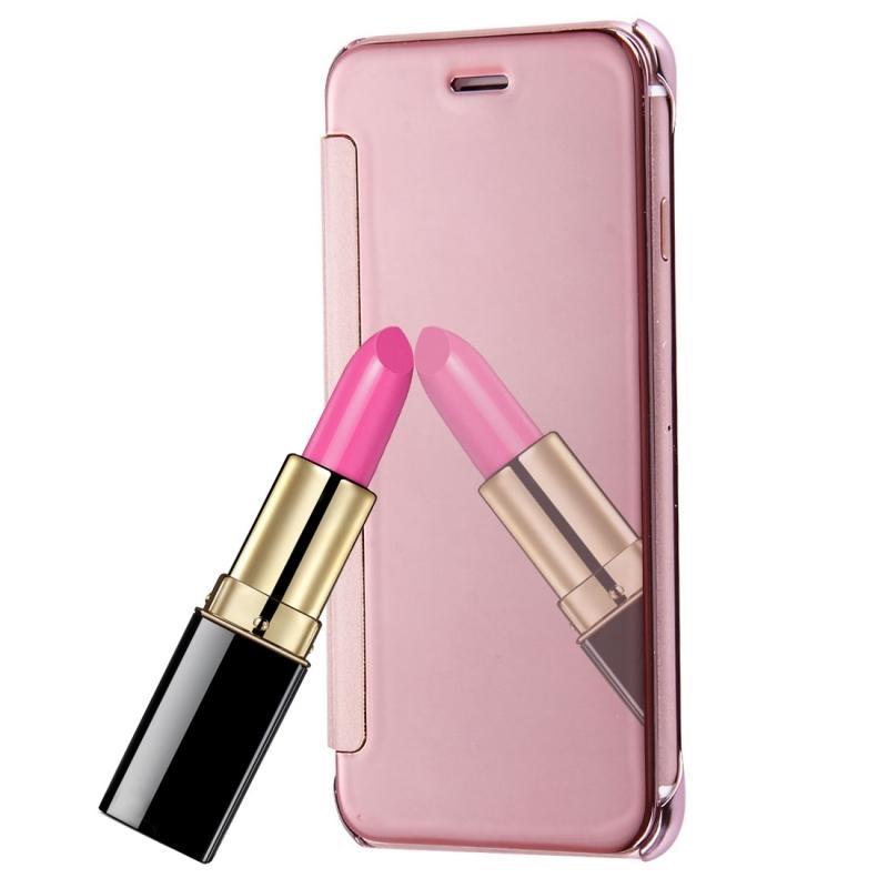 Zrcadlové otevírací   flipové pouzdro pro Apple iPhone 8   7 - růžově zlaté  ... 0f020dd24b7